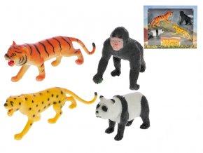 Zvířátka safari 8-15 cm 4 ks v krabičce
