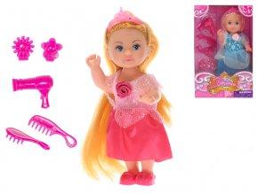 Panenka princezna 12cm s doplňky 2barvy v krabičce