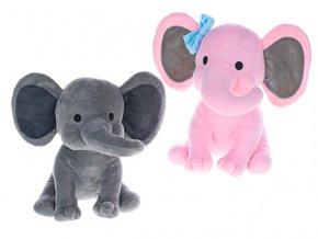Slon plyšový 25 cm sedící 2 druhy 0m+ v sáčku