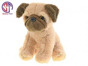 Pes Star Sparkle plyšový 25cm sedící 0m+ v sáčku
