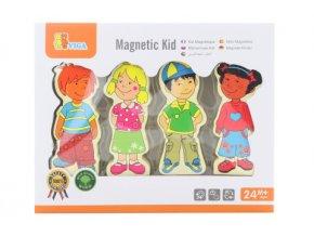 Dřevěné magnetické postavičky