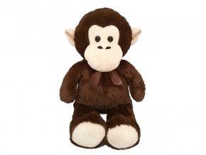 Opice plyšová 80cm s mašlí 0m+ v sáčku
