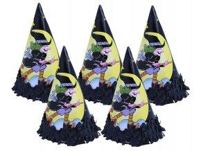 Klobouček papírový čarodějnice 6 ks