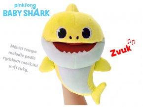 Baby Shark plyšový maňásek 23cm žlutý na baterie s volitelnou rychlostí hlasu 12m+ v sáčku