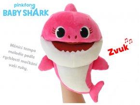 Baby Shark plyšový maňásek 23 cm růžový