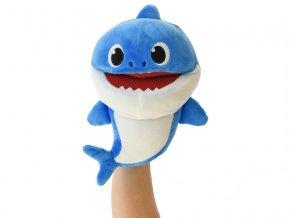 Baby Shark plyšový maňásek 23cm modrý na baterie s volitelnou rychlostí hlasu 12m+ v sáčku