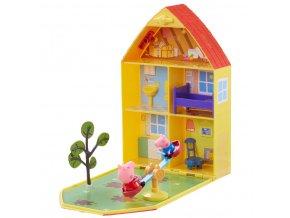 Peppa Pig domeček se zahrádkou, figurkou a příslušenstvím