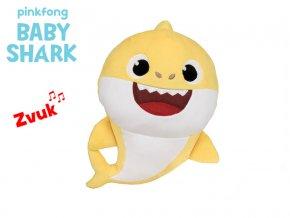 Baby Shark 17 cm plyšový na baterie se zvukem žlutý