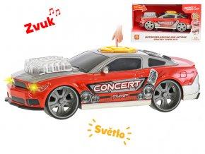 Auto sportovní 25 cm ovladatelné na baterie se světlem a zvukem v krabičce