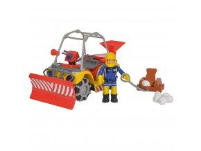 Požárník Sam zimní čtyřkolka Mercury s figurkou