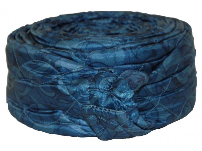 170334 Quilted Zipper Blue