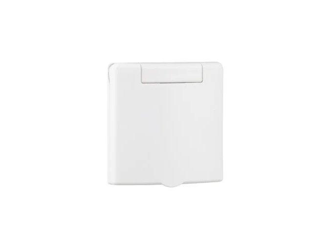 Zásuvka čtvercová plastová celoplošná Classic bílá