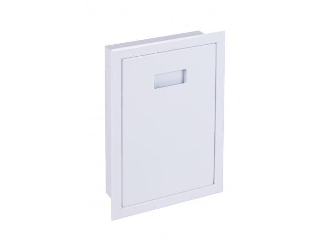 Vhozová dvířka kovová bílá