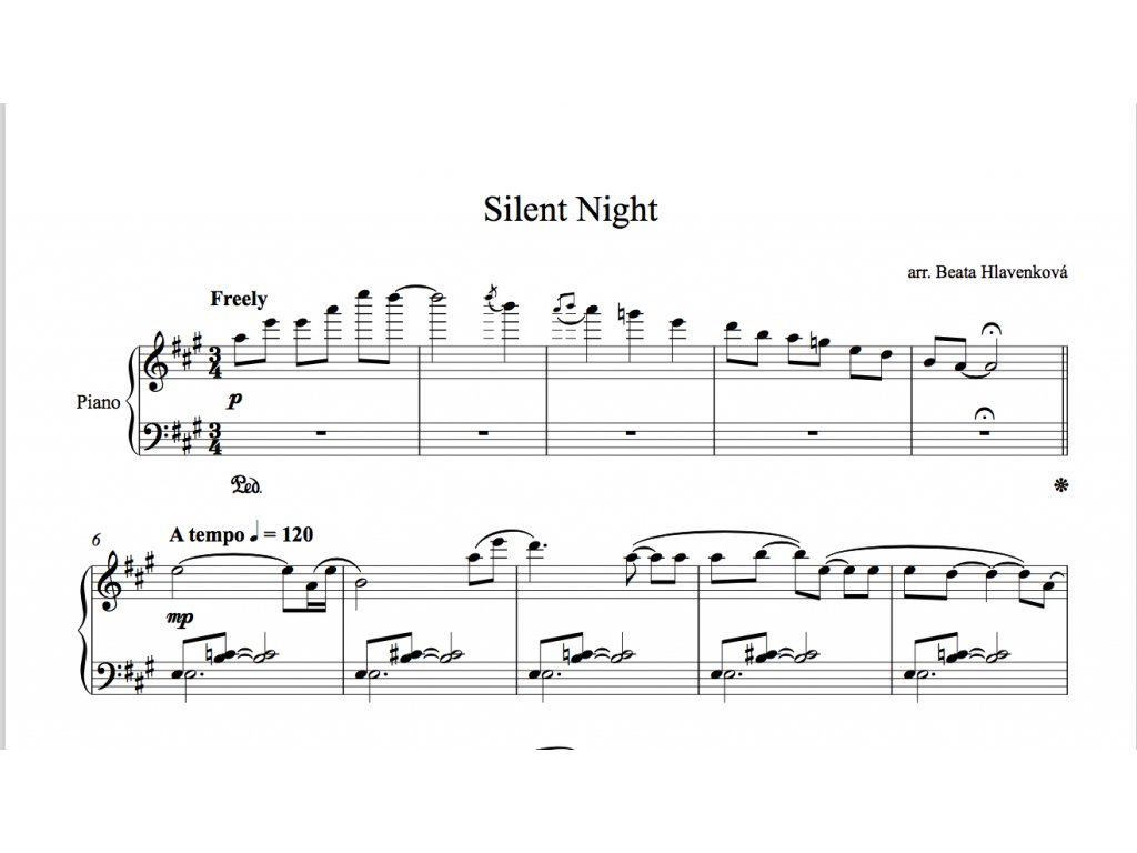 Silent Night noty