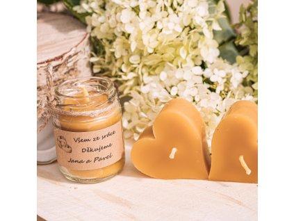 Svíčka Svatebčanům z včelího vosku