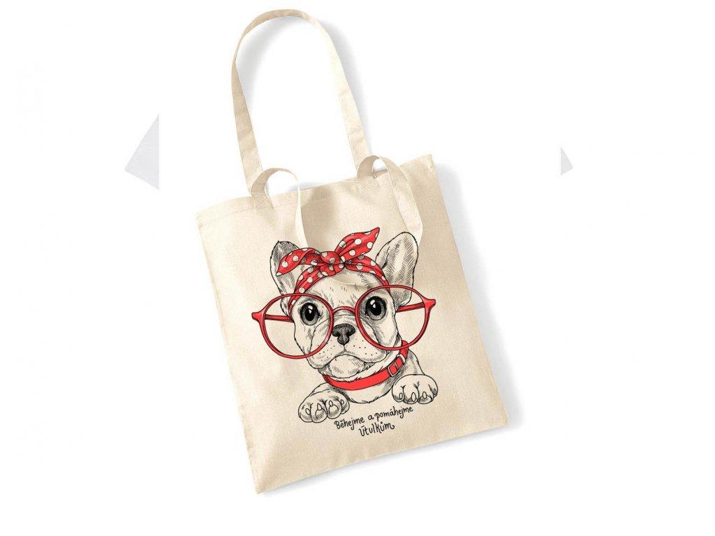 Bavlněná taška buldoček