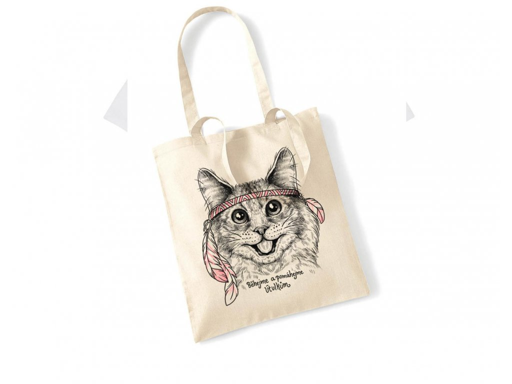 Bavlněná taška KOČKA