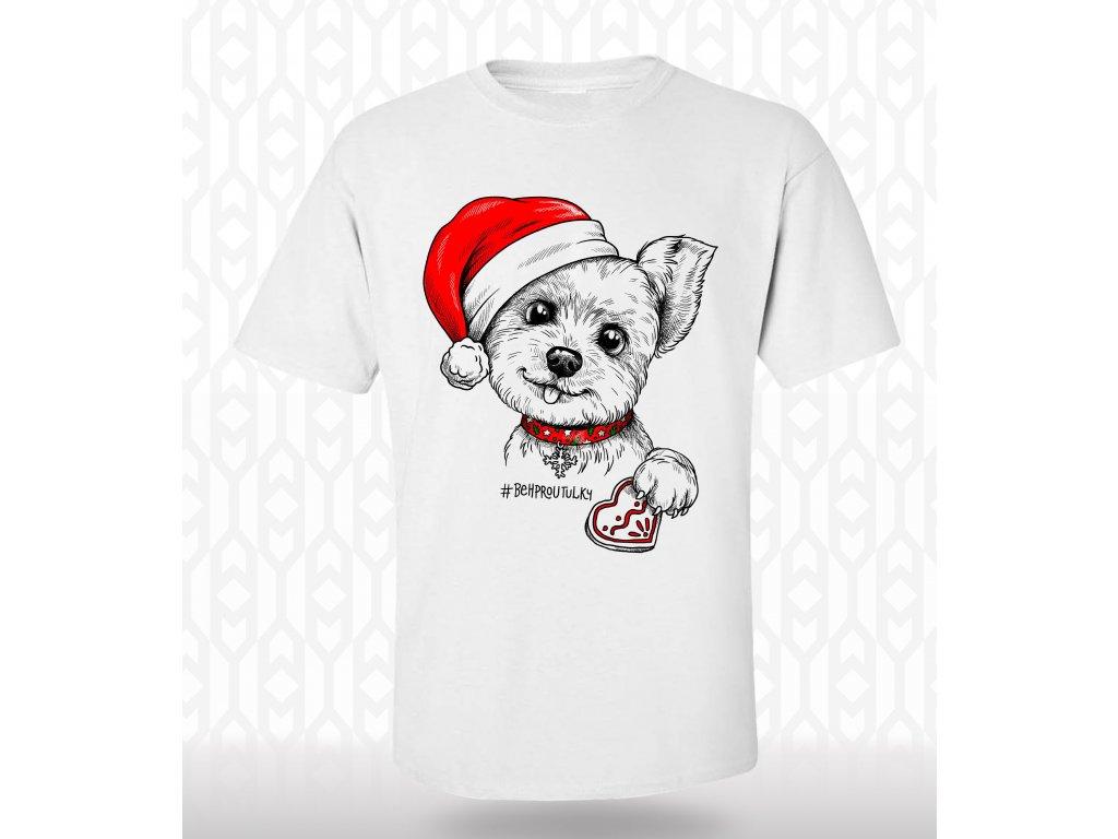 Pánské vánoční tričko yorkšír
