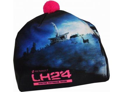 Čepice PINGU LH24 Černo Fluo Růžová