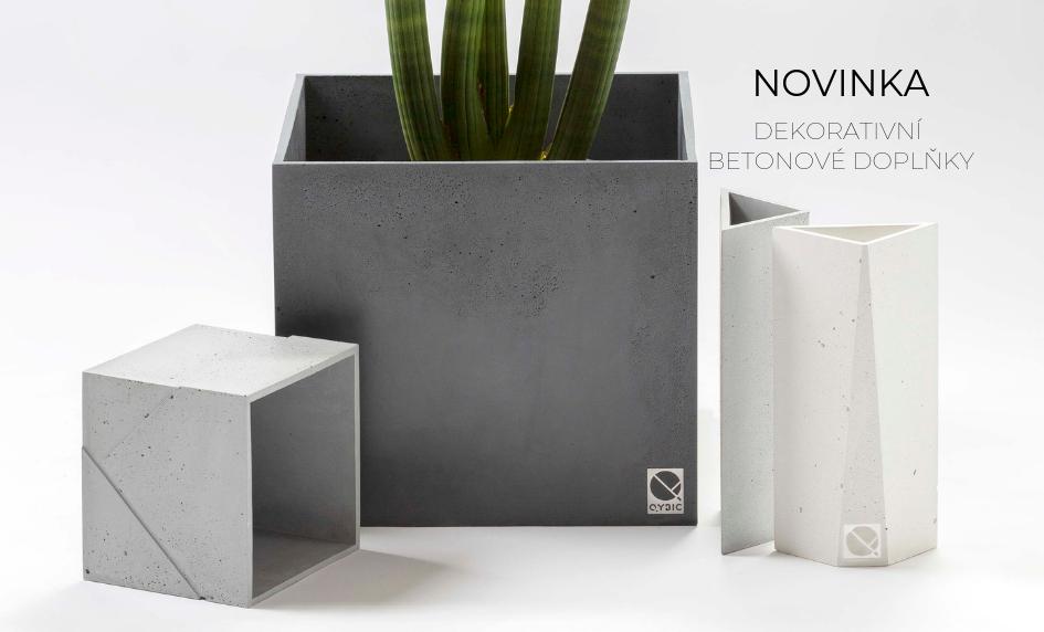Qybic- dekorativní betonové doplňky