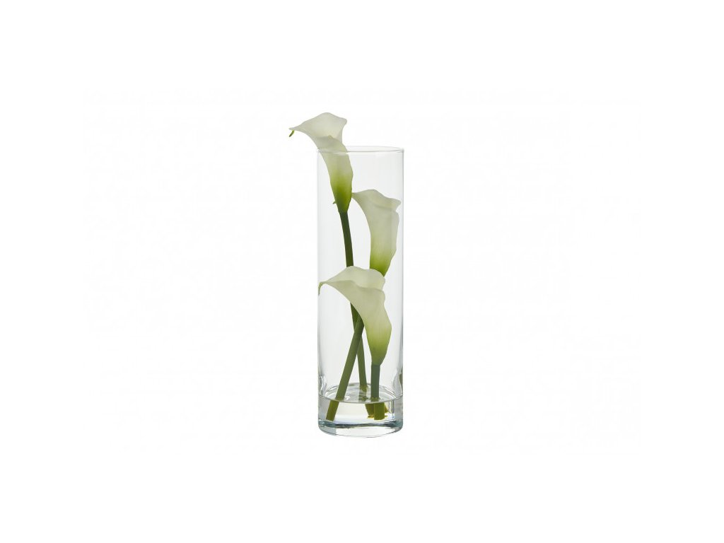 calla lillies tall cylinder