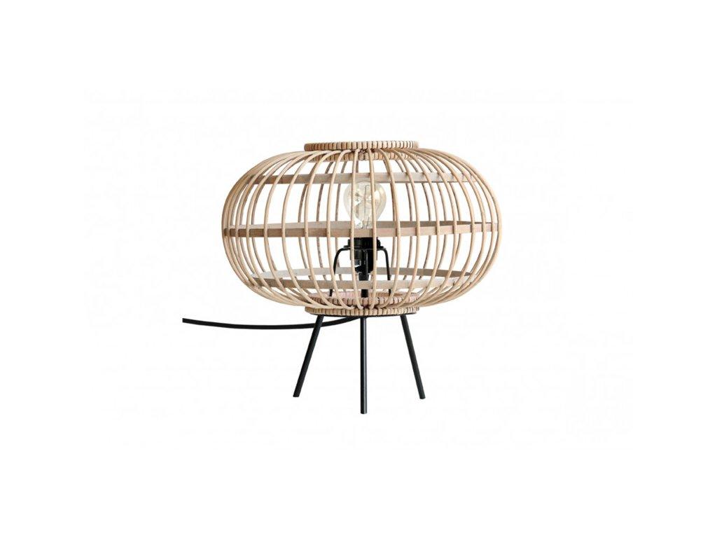 Bambusová stolní lampa