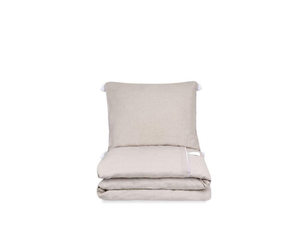 bed stonewashed linnen dekbedovertrek lisbon sand ps 2