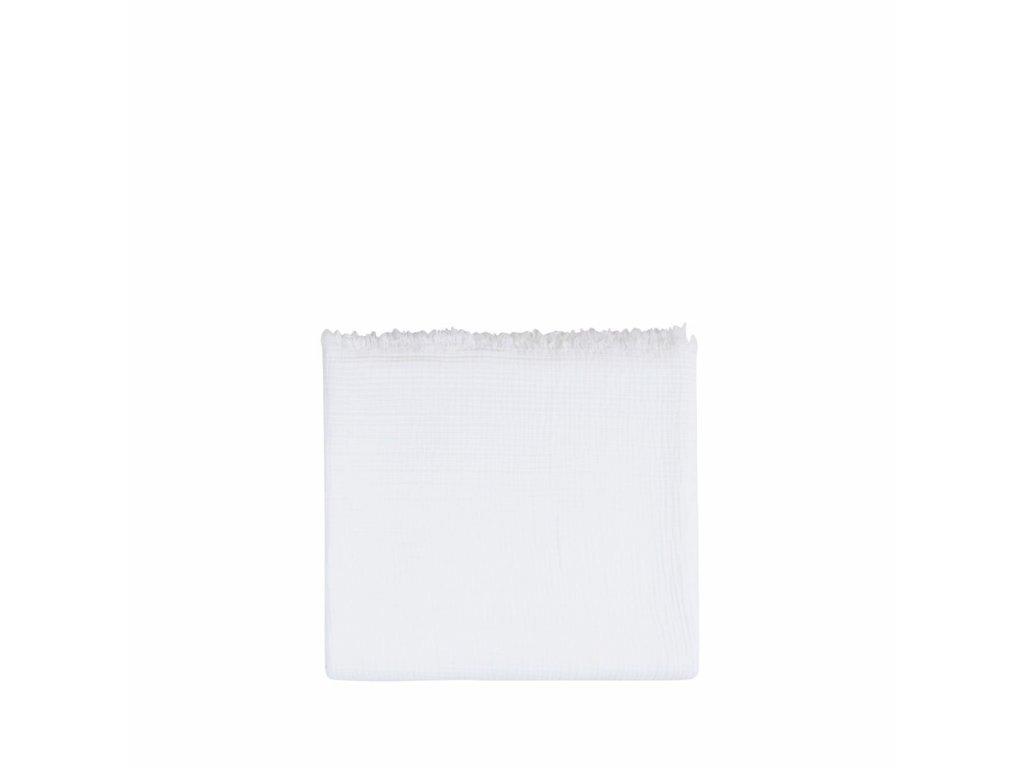 living katoenen plaid santorini white