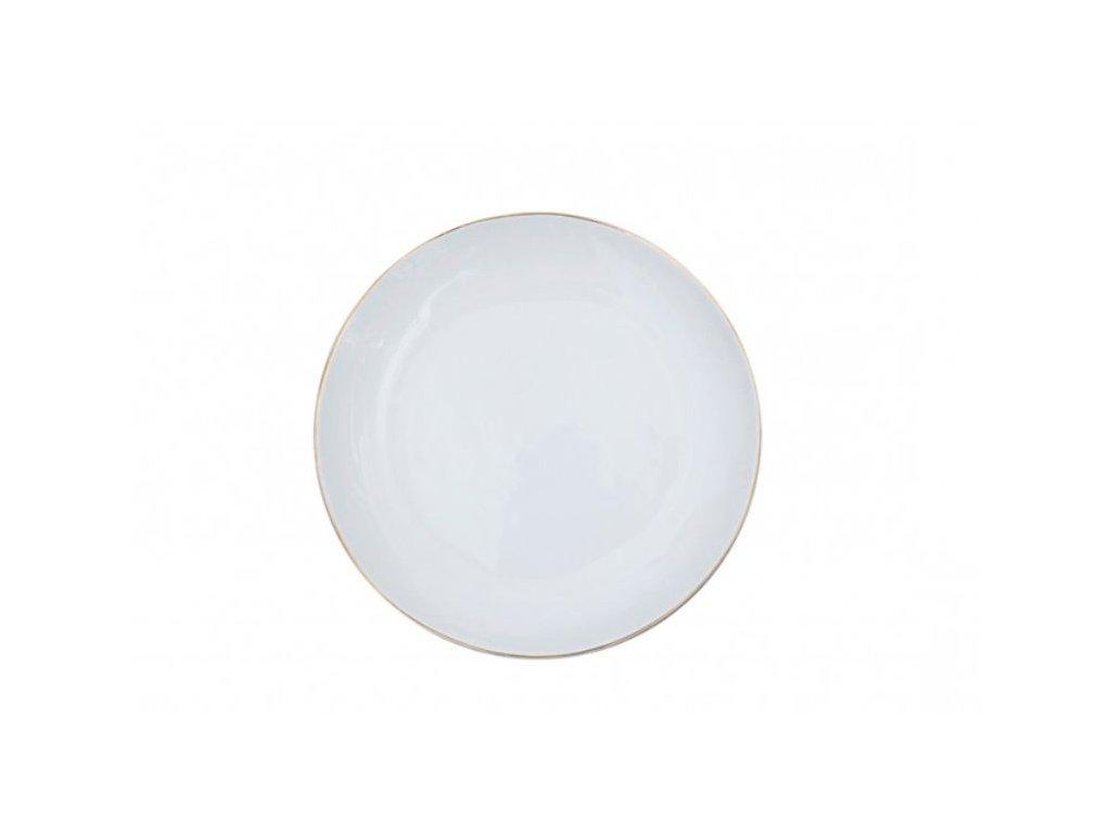 ZEN GOLD RIMMED WHITE DINNER PLATE SET OF 2