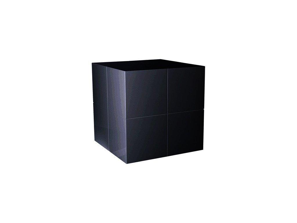 Černý odkládací stolek Kelly Hoppen The Large Cube