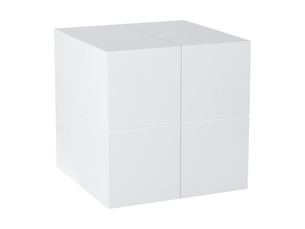 Bílý odkládací stolek Kelly Hoppen The Large Cube