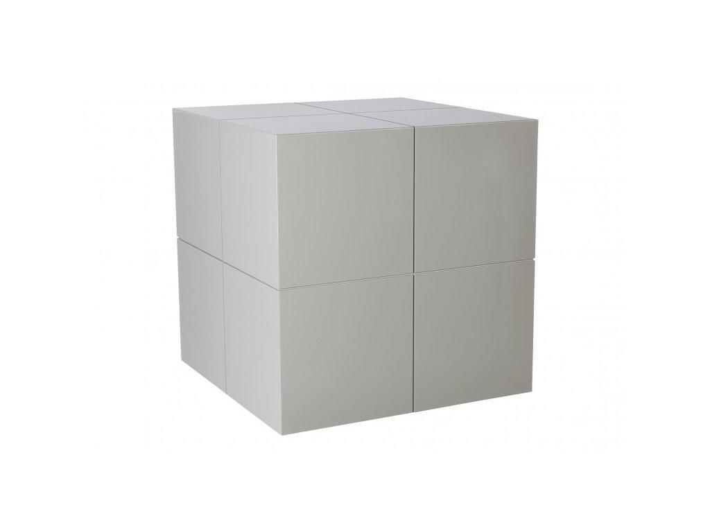 Šedý odkládací stolek Kelly Hoppen The Large Cube