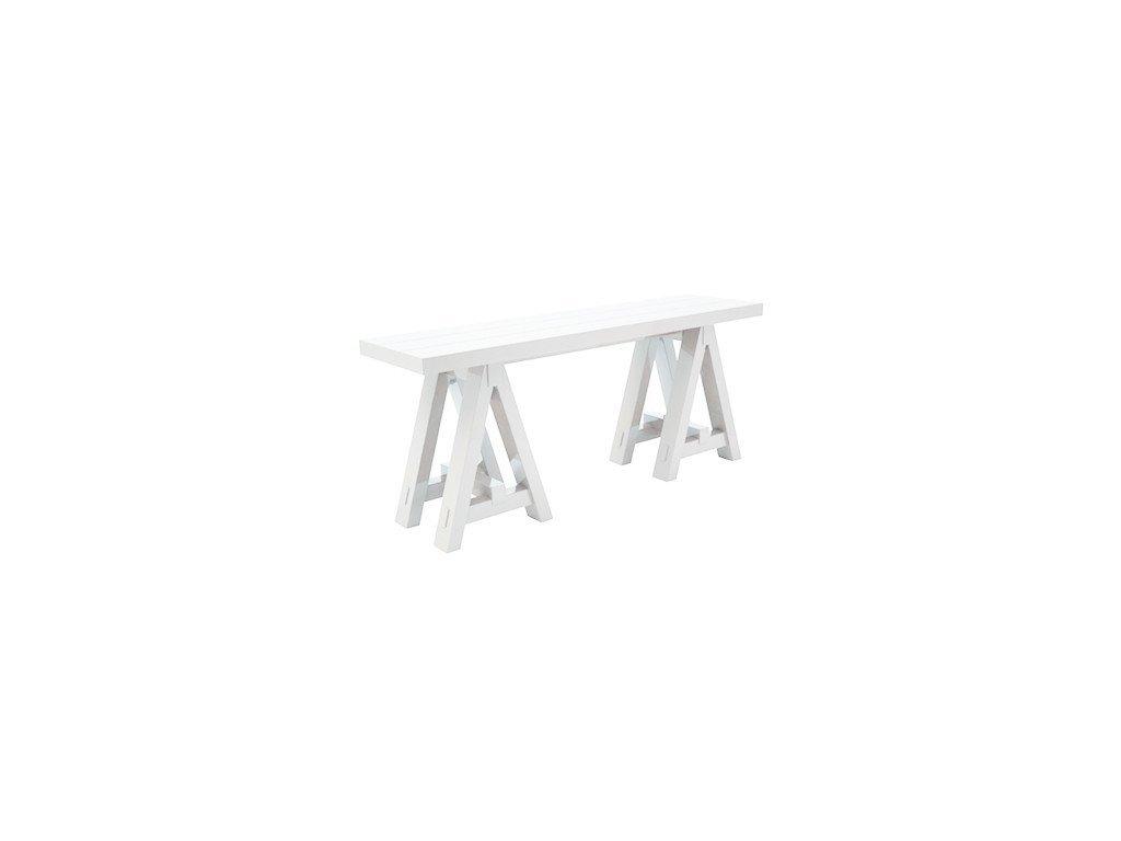 Bílý odkládací stolek The Art