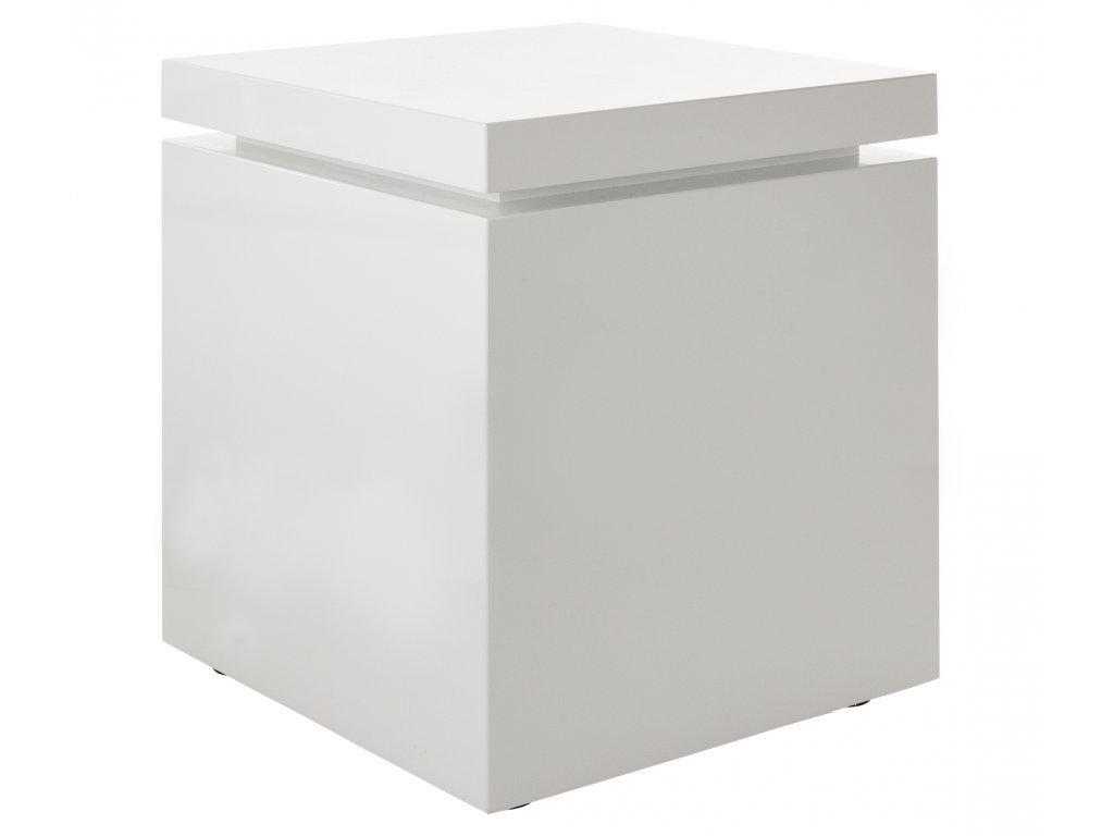 Bílý odkládací stolek Kelly Hoppen Flow Medium