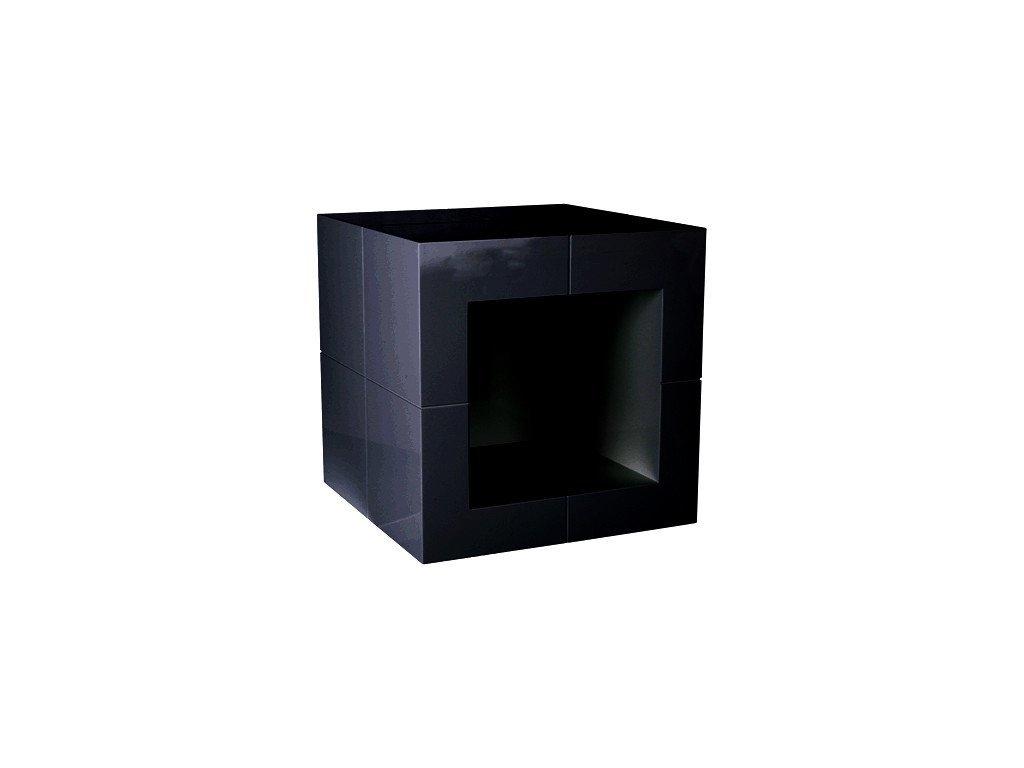 Černý odkládací stolek Kelly Hoppen The Open Cube