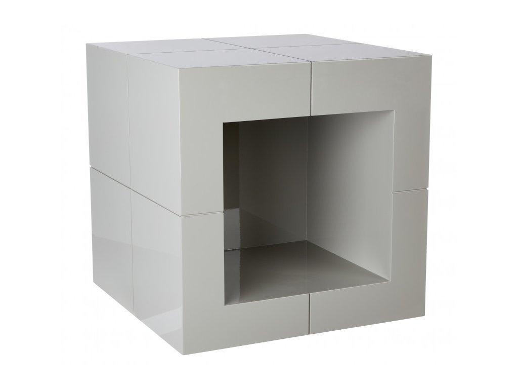 Šedý odkládací stolek Kelly Hoppen The Open Cube