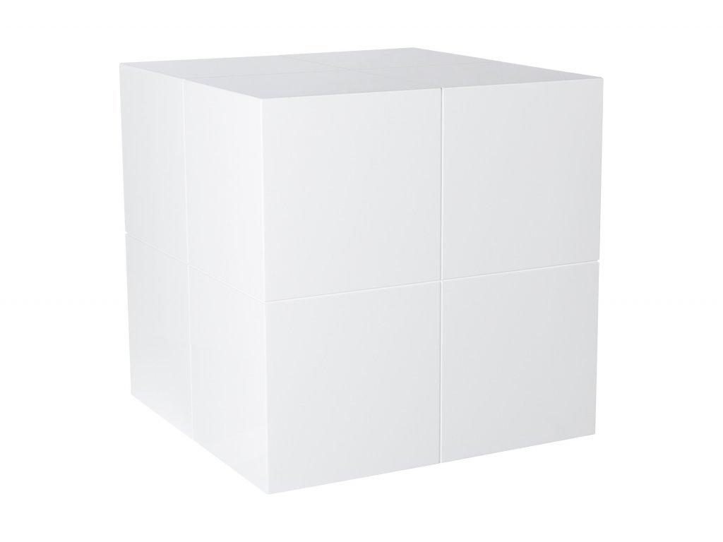 Bílý odkládací stolek Kelly Hoppen The small cube
