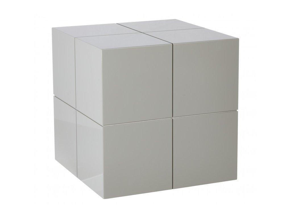 Šedý odkládací stolek Kelly Hoppen The small cube