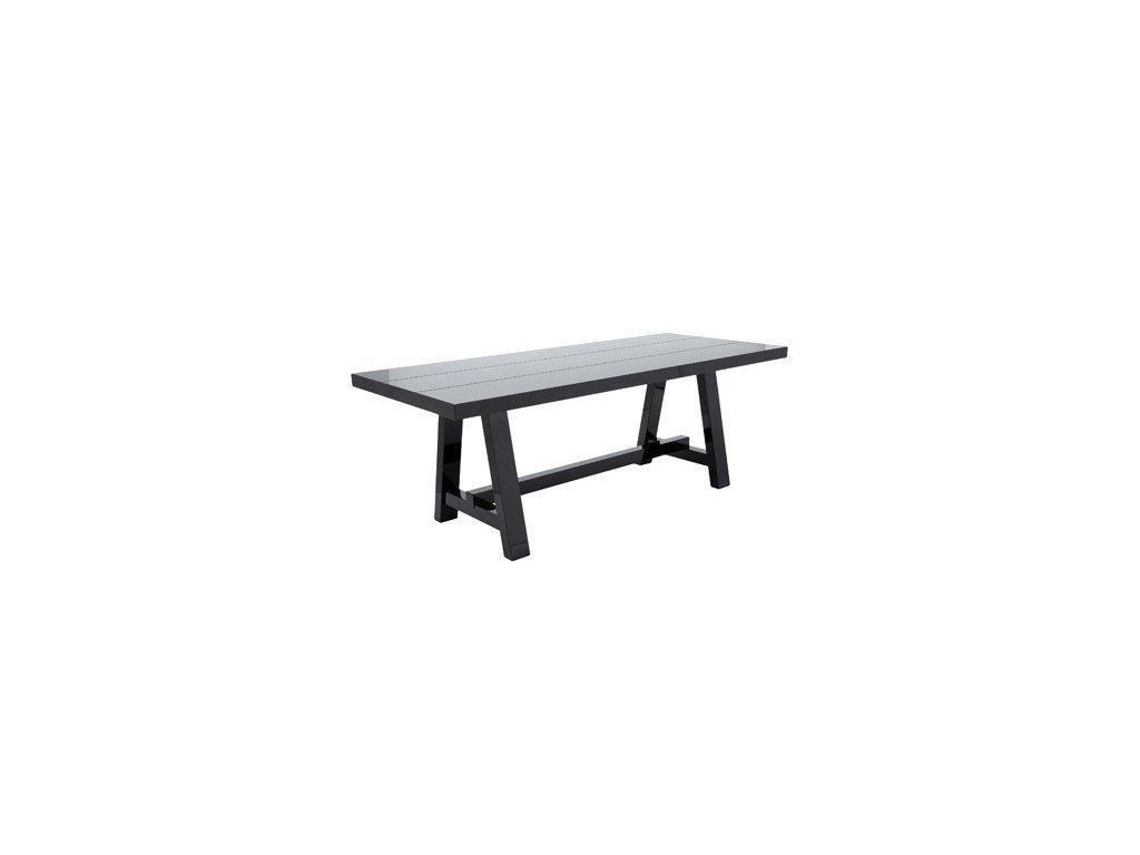 Černý velký jídelní stůl Kelly Hoppen Lacquer