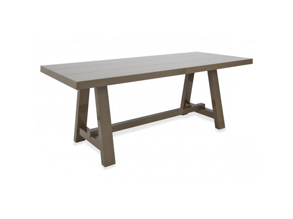 Béžový velký jídelní stůl Kelly Hoppen Lacquer