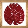 obraz phylomonstera červená přírodní dub
