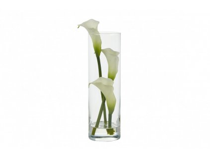 calla lillies tall cylinder