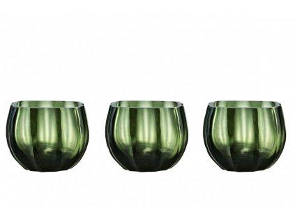 Svícen na čajové svíčky Botanical - set 3