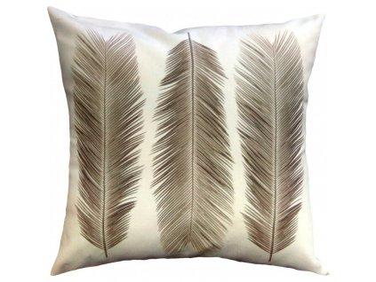 Dekorační polštář Cycas taupe