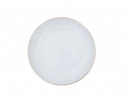 ZEN GOLD RIMMED WHITE DINNER PLATE SET OF 2