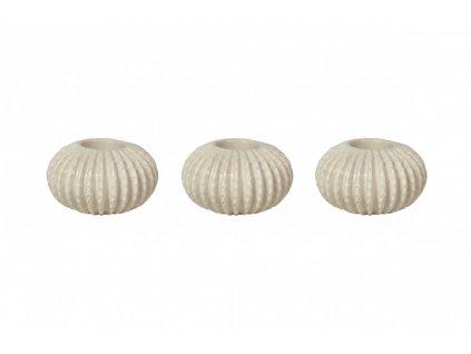 Set 3 svícnů na čajové svíčky Kelly Hoppen - Urchin
