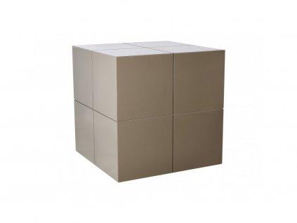 Béžový odkládací stolek Kelly Hoppen The Large Cube