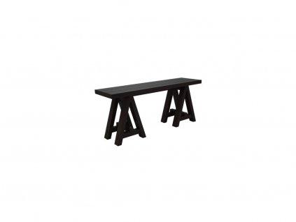 Černý odkládací stolek The Art