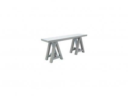 Šedý odkládací stolek The Art