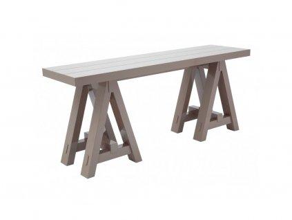 Taupe odkládací stolek The Art